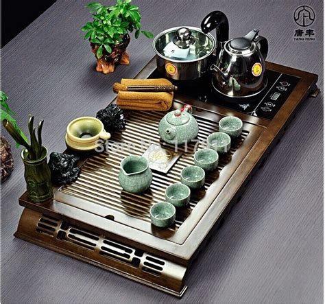 6 Styles:DHL/FedEx/UPS Chinese Tea Table Set Tea berries with Induction Cooker  Kung Fu Cup sets