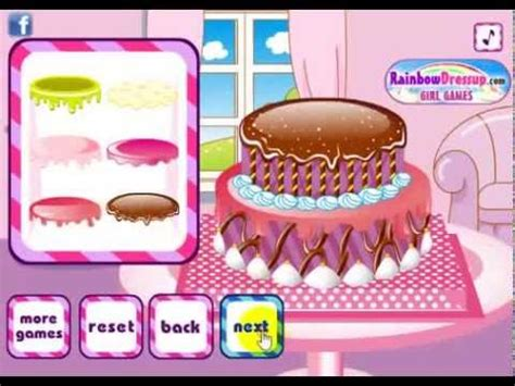 gemes membuat kue ulang tahun permainan memasak kue ulang tahun youtube