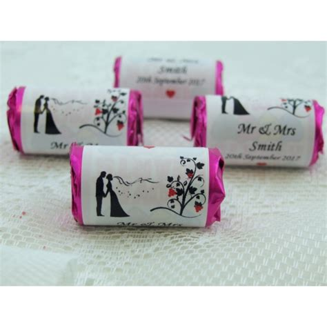 chocolate wedding favour ideas uk 48 personalised rolls from only 21p a roll