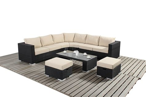 Rattan Curved Sofa Luxury Black Rattan Curved Corner Sofa Oxf Direct The Luxury Discount Outdoor Furniture Store