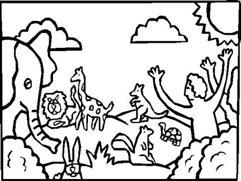 coloring pages creation animals kidz under construction coloring pages creation day six