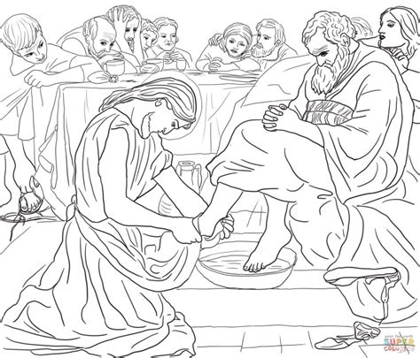 last supper jesus and nicodemus coloring page free