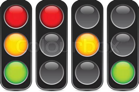 red light yellow light green light traffic light signal semaphore or control lights vector
