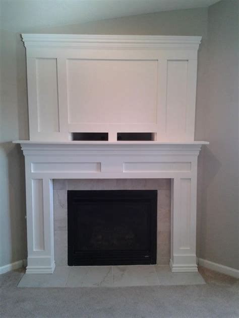 diy fireplace mantle home