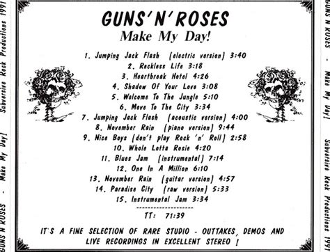 guns n roses one in a million mp3 download free music art vcl guns n roses make my day rare tracks 1991