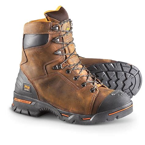 insulated work boots for s timberland pro 174 waterproof 8 quot endurance 400 gram