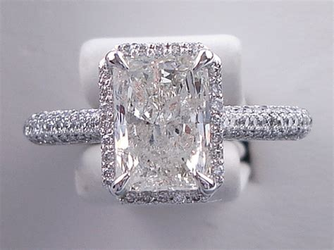 2 50 ctw radiant cut wedding ring set includes a