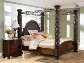 Wood Canopy Bed Frame King Big Post Bed King Size Shore California King