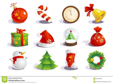 new year symbols and customs new year traditional symbols stock photo image 34934590