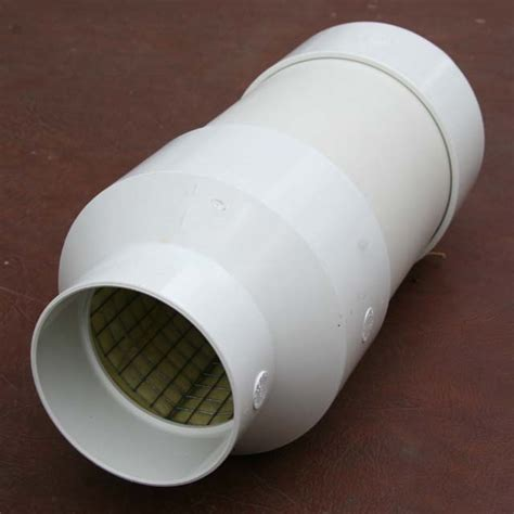 6 inch inline duct fan silencer noise reducer reducing radon fan system noise and other fan noise