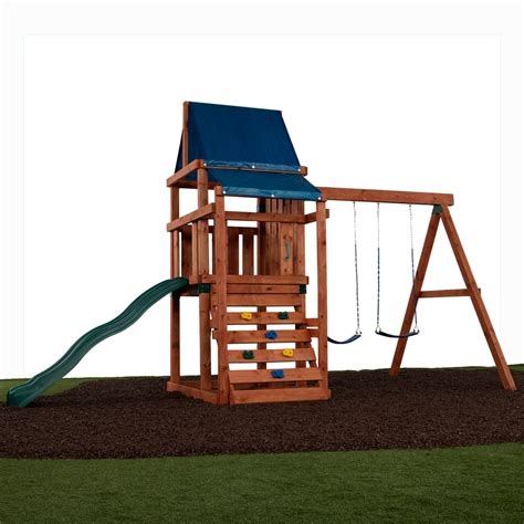 swing lowes shop swing n slide asheville ready to assemble kit