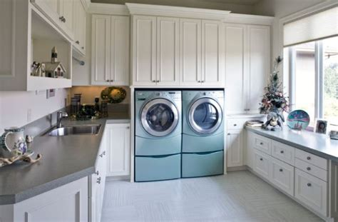 waschkueche einrichten  ideen fuer einen modernen waescheraum