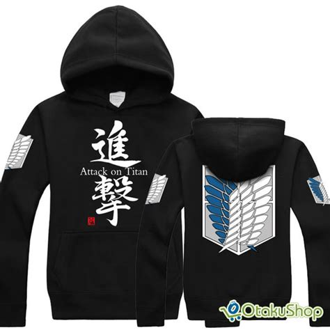 Promo Sweater Attack On Titan 3 attack on titan hoodie shingeki no kyojin otakushop