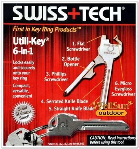 Swiss Tech Bodyguard Multifunction Tool 6 In 1 swiss tech utili key 6 in 1 key ring end 7 2 2017 11 15 pm