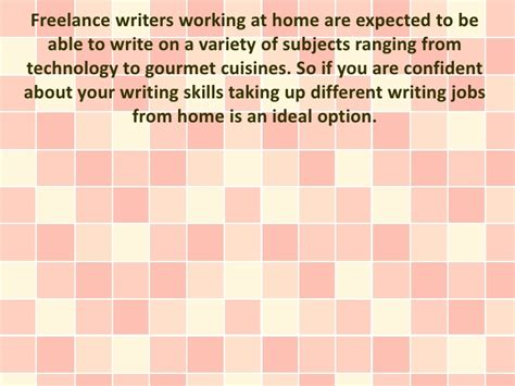 Freelance Online Work From Home - 8 work from home jobs for freelance writers
