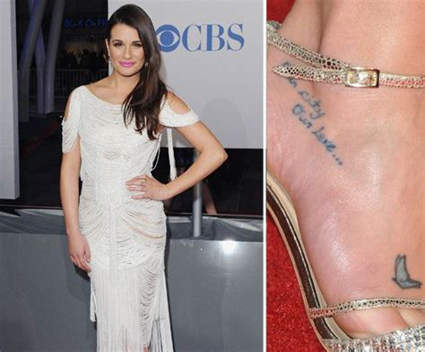 lea michele s tattoos michael bubl 233 lea michele and small tattoos