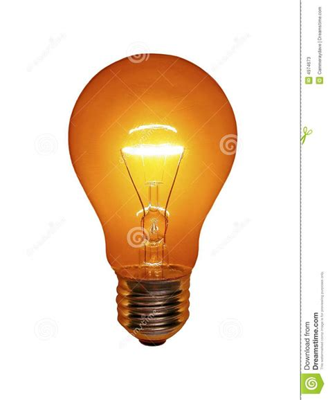 orange light bulb stock image image of idea glass