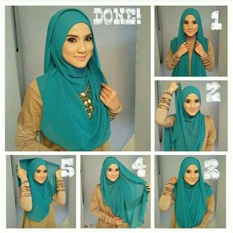 tutorial berhijab terkini simple hijabs pinterest simple