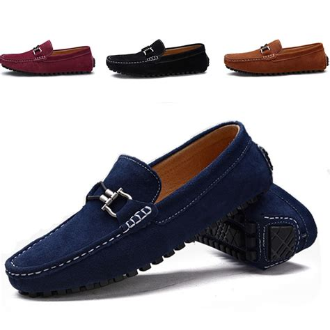 mens loafers fashion 2016 plus size loafer shoes trendy genuine leather