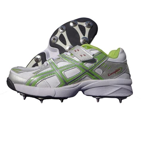 spike shoes pro ase stud spike cricket shoes white and green