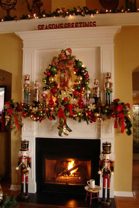 christmas decorating adventures in decorating nutcracker mantel