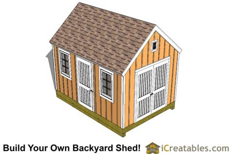 Shed Plans 10 X 14 by 10x14 Colonial Shed Plans Icreatables Sheds