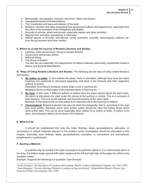 The Review Of Related Literature And Studies by Chapter 6 The Review Of Related Literature And Studies