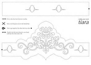 tiara template princess crown cut out template search results