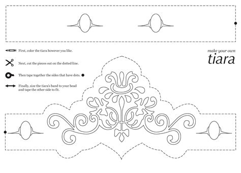tiara template rebekah grace easy princess crafts