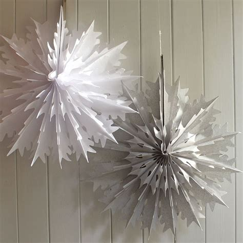How To Make Tissue Paper Snowflakes - tissue paper honeycomb snowflake 2 colours pipii