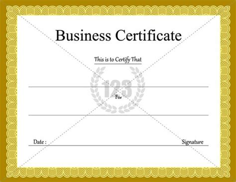 Business Certificate Template business certificate templates for free