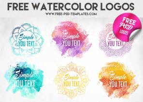 watercolor logos 187 logo templates psd files 187 photoshop