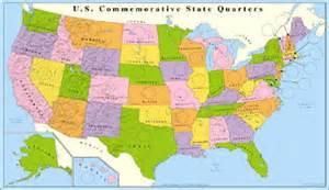 jake s u s map statehood quarter coin display board