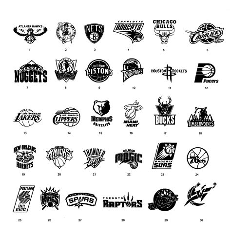 all nba teams black and white pictures to pin on pinterest