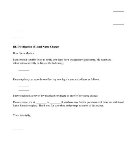 Bank Notification Letter Name Change Name Change Template Photos Exle Resume Ideas Alingari