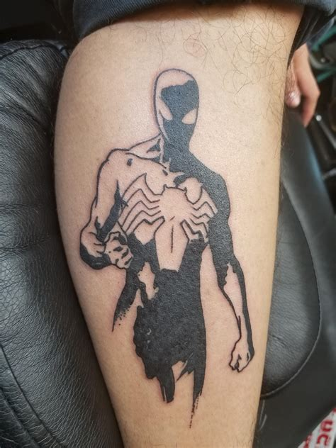 spiderman tattoo check out my black suit spider