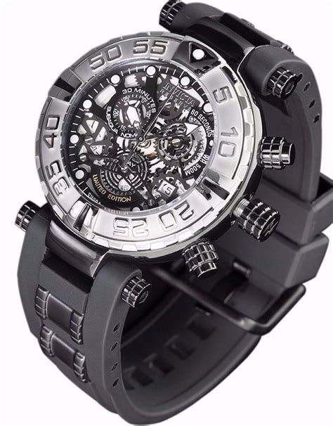 For New Cronograph new mens invicta subaqua swiss made chronograph skeleton