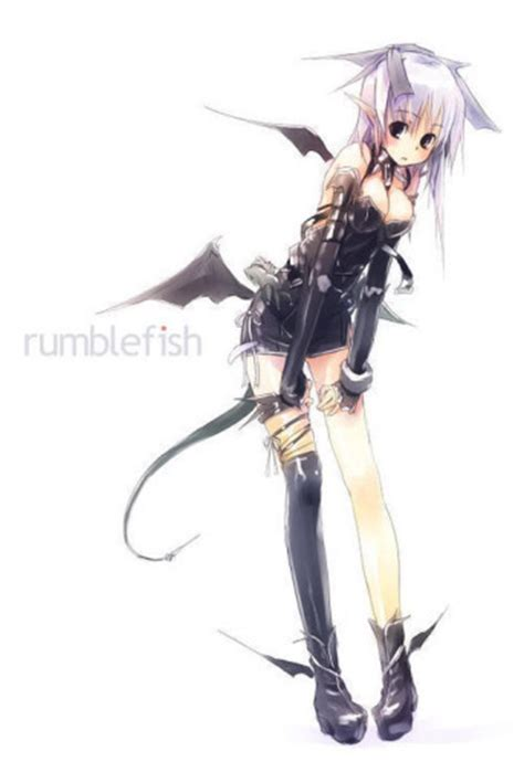 anime demon girl with short hair anime demon picture image photo comment on we heart it