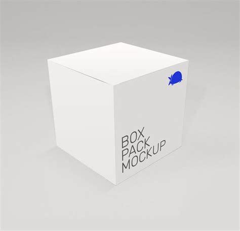 mockup design box box mockup free psd photoshop cube square packaging