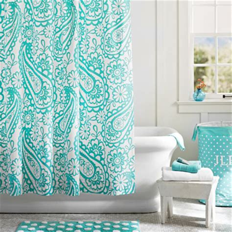 turquoise paisley curtains garden paisley shower curtain everything turquoise