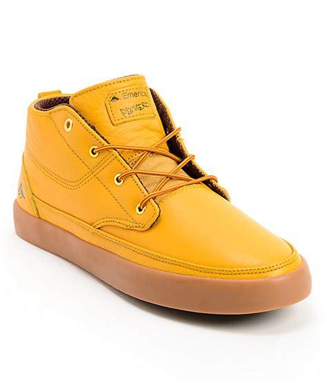 emerica troubadour lx leo romero gum leather skate