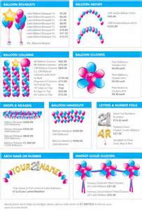 list of decorations balloon decorations dublin balloons and supplies