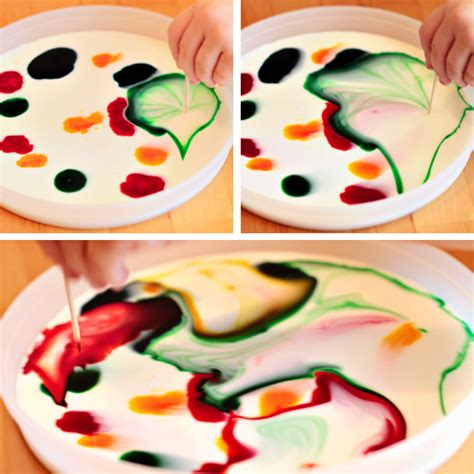 milk and food coloring we tried it milk colors modern parents