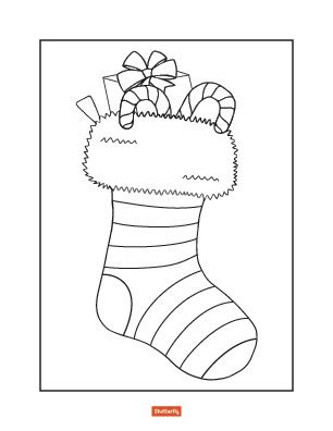 preschool christmas stocking coloring page 35 christmas coloring pages for kids shutterfly