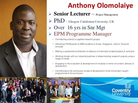 Coventry Dubai Mba by Trevor Jones Dhl Supply Chain With Anthony Olomolaiye