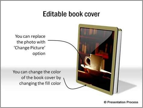 book cover powerpoint template create a beautiful book in powerpoint