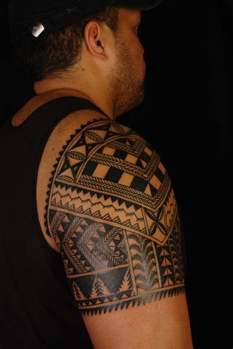 melanesian tattoo designs shane tattoos niuean shoulder on marlon