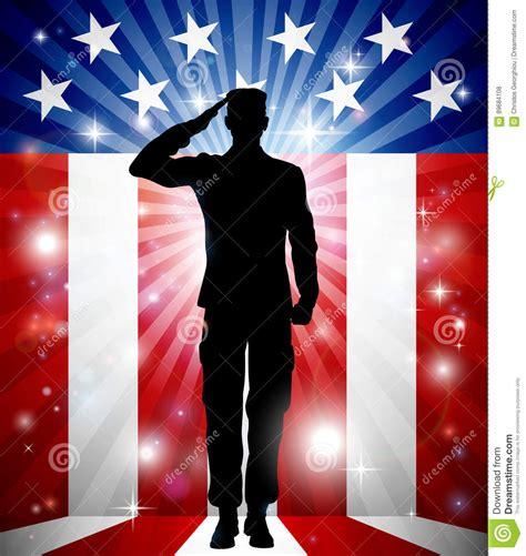 patriotic soldiers us soldier salute patriotic background stock vector