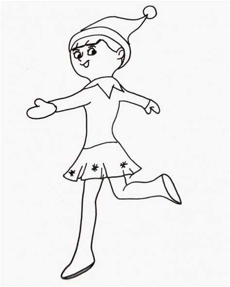 printable elf girl printable girl elf on the shelf coloring pages coloring home