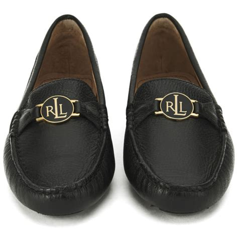 ralph womens loafers ralph s carley leather loafers black